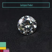 round cut white moissanite diamond polished 6.5mm 1ct vvs and D E F color moissanite