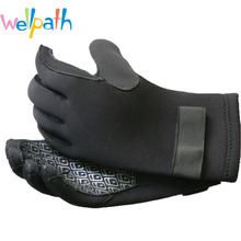 Factory long Neoprene gloves Adult thin diving gloves wear-resistant antislip waterproof gloves