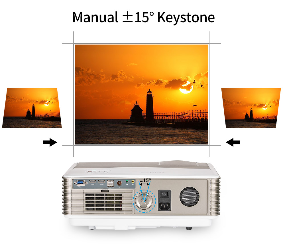 4200 Lumens high lumen led projector 1280*800 support 1080 for home theater