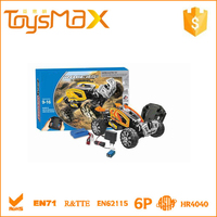 2015 High speed ABS Plastic Yelllow Intelligent DIY Assembly Car Toys, Battery Operated RC Best Model Car Kits with Certificates