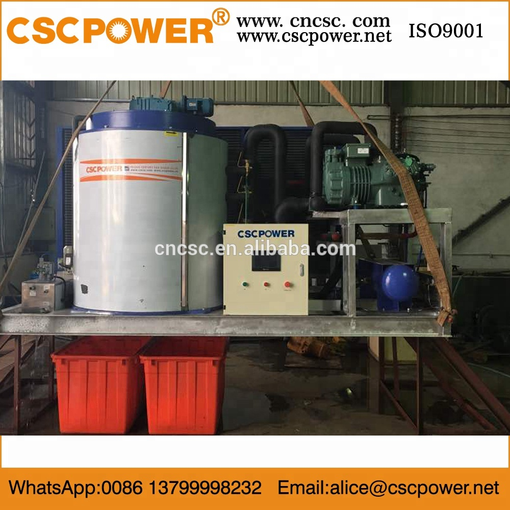 new containerized 10 tons flake ice machine for concrete cooling