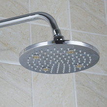 Quality 8'' Big Rainfall Shower Head Stainless Steel And Silica Gel Holes Bathroom Shower Head Water Saving Spray Nozzle HSS4221