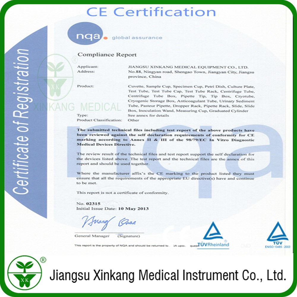 Cuvette for  ACS 180S1 Biochemical Analyzer with CE and ISO13485 Certification