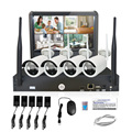Wholesale HD 4CH 1080P Wireless NVR KIT with built-in 10.1 inch LCD monitor IPK8204B-W CCTV WIFI IP Camera WITH NVR Kit