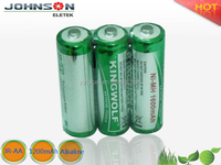 super 1600mAh rechargeable dry cell solar battery