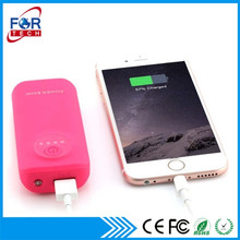 Portable 5000mah Mobile Power Bank with Free Logo Printing