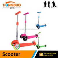 Flashing big wheel with strong pedal kids scooter for sale