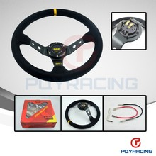 Steering wheel ID=14inch=350mm OMP Deep Corn Drifting Steering Wheel / Suede Leather