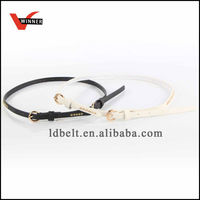 2014 Summer Collection Black and White Girls Skinny Fashion PU Belt