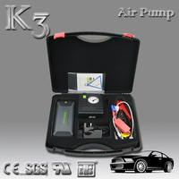12000mah 400A Peak Current Portable Car Jump Starter Multi-function Jump Start with Air Compressor with Dual USB Port