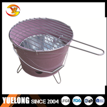 YL1604# Mini bucket charcoal bbq grill, used charcoal barbeuce grill with good offer