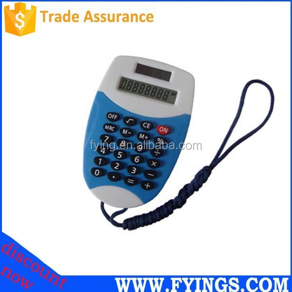 promotional 8 digit electronic necklace calculator
