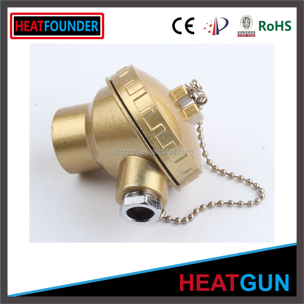 ALUMINUM HEAD CONNECTED STAINLESS STEEL SHIELD K TYPE ASSEMBLY THERMOCOUPLE