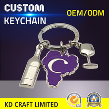 Wholesale cheap custom metal soft enamel nickel plated motorcycle safety helmet keychain