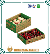 Hot sale corrugated carton customized printing high quality cherry fruit packaging box