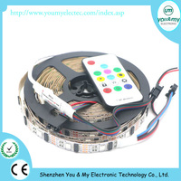 5V Addressable 5M 32Leds/M SMD 5050 RGB Digital WS2801 Led Strip Programmable WS2801 IC 32 Pixel/m with mini controller