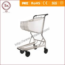 4 wheel airport cart hand luggage trolley with brake