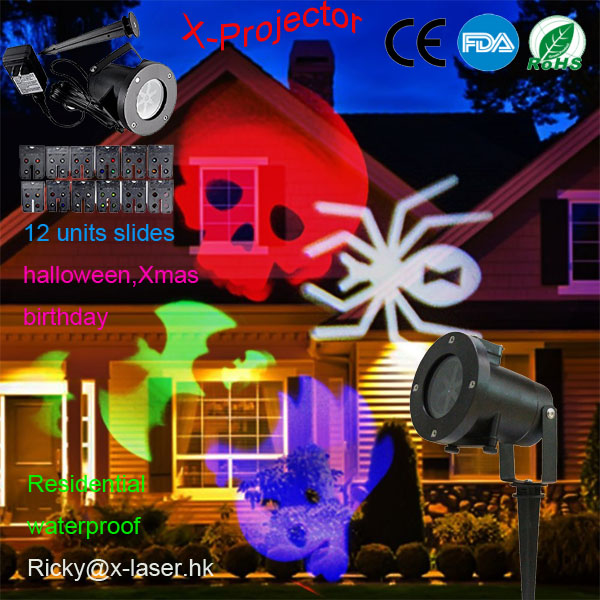 holiday light led Landscape Projector 12 units slides for different festival