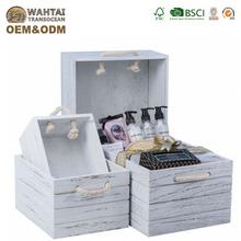 Scorched Cheap Wooden Fruit Crates With Additional Medium Board For Wholesale