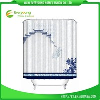 New Design Simple Double Shower Curtain For Bathroom