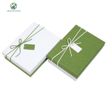 Wholesale wood pulp Recyclable white Cardboard paper box for gift packaging