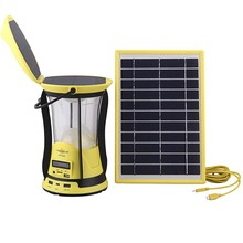 Rechargeable LED solar lantern with FM Radio