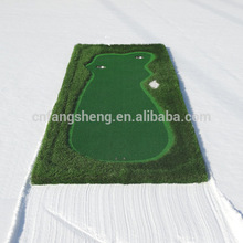 Mini Golf game mat/putting green exercise golf mat with high quality easy to bring indoor mini golf practice mat