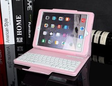 2015 New arrival High Quality Tablet Leather Keyboard Case Wireless Bluetooth Keyboard Case for iPad