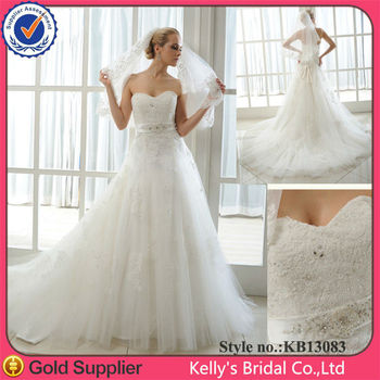 Factory direct ready made long sleeveless heavy lace wedding dresses muslim wedding gown 2016