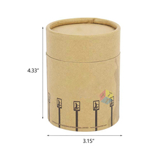 quality cheapest natural kraft round hat boxes with lids