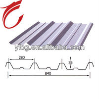 low cost corrugated color steel tile for roof