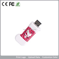 Christmas man new year gifts 2.0 USB flash drives8GB with data saved,logo engraved