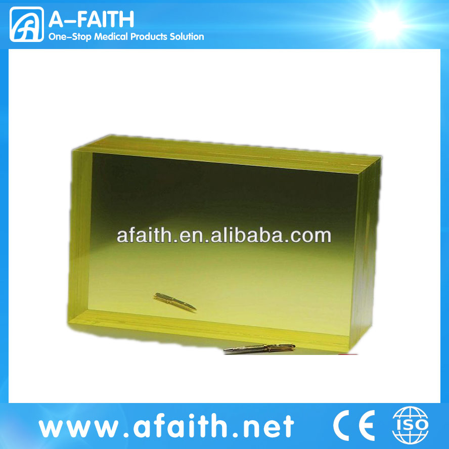 ZF3 Lead Glass used for CT scan, Nuclearmedicine,observing windows and X-ray in medicine/radiation protection lead glass