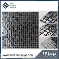 15x15mm Black Pearl Glass Mosaic Tile