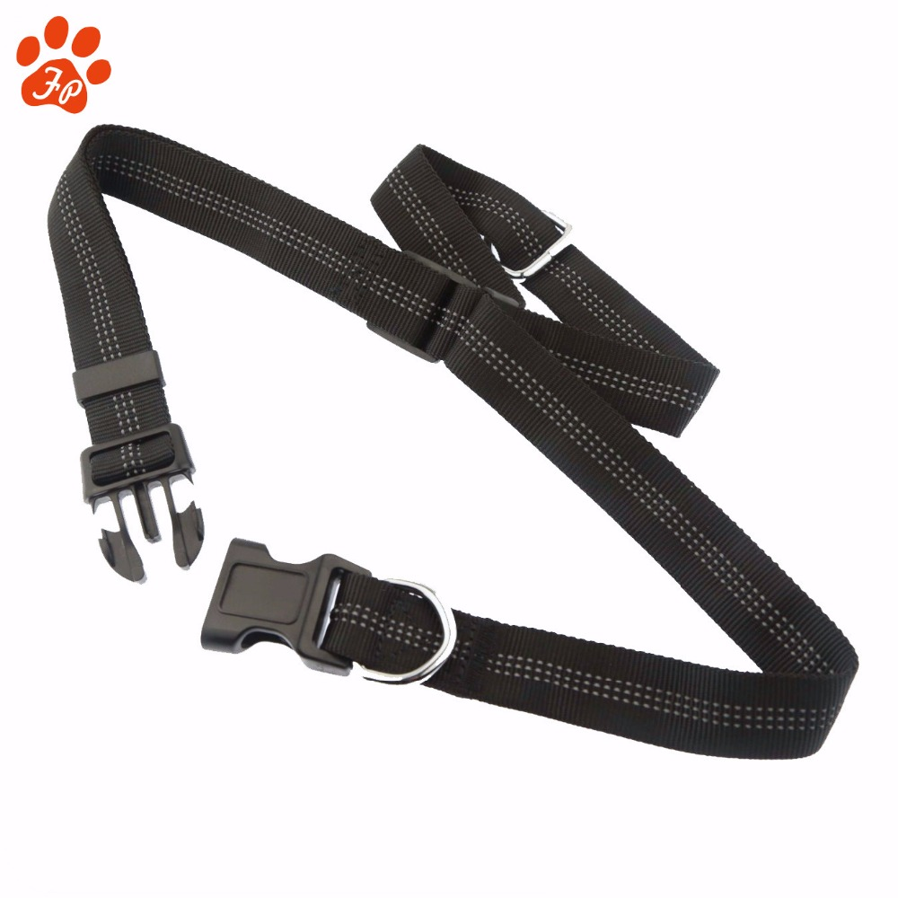 Premium customized bungee padded webbing handle Strong Nylon Girth strap dog leash set for running