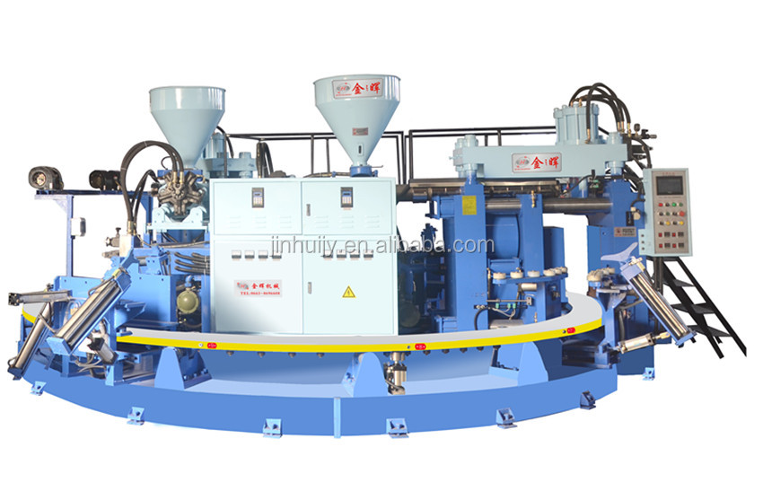 High quality bi-colors rain boot injection moulding machine