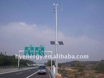 Wind and Solar Hybrid Road monitoring