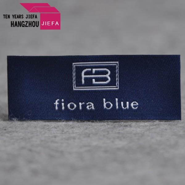 High quality custom damask woven label cut and fold artwork