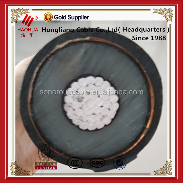 High Voltage 33KV Copper Conductor, XLPE insulated Power Cable