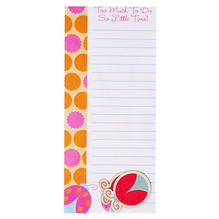 INTERWELL LK204 Magnetic Shopping List Note Pad, Fridge Magnet Promo Note Pad