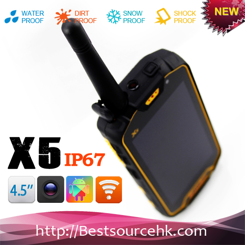4.5 Inch IPS Touch Screen bluetooth ptt ip67 rugged dual sim factory IP67 rugged dual sim runbo X5 rugged phone
