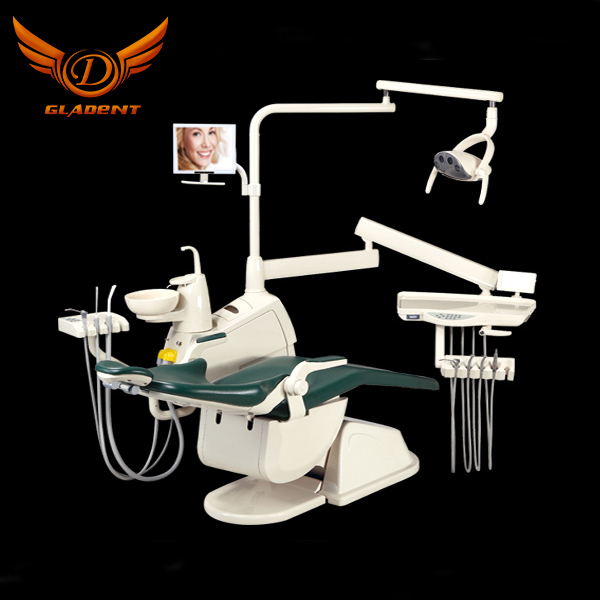 Gladent Luxury LED lamp rotatable box & aluminum backrest Dental Unit