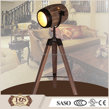 high quality classic style modern floor lamp vintage wood tripod table lamp