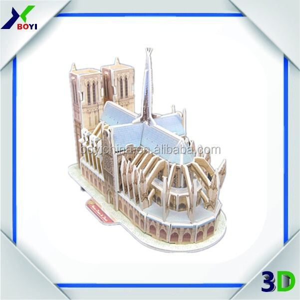 New Mould 3D Paper Model Toy Cardboard Puzzle, Topsale DIY Build My World 3D Puzzle, Colorful 3D Puzzle Card