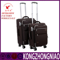 Factory wholesale luggage trolley travel bags for adults and students with spinner wheels