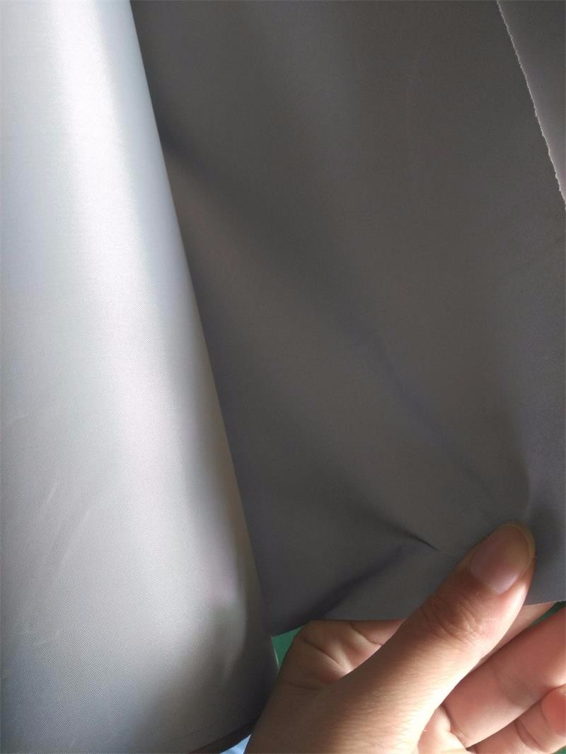 hivisibility silver grey eco-friendly reflective polyester fabric