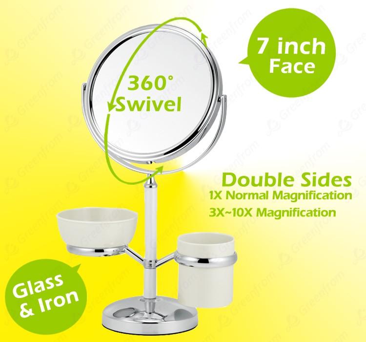 double sides table standing cosmetic mirror
