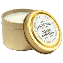 Paddy Wax Gold Tin Scented Candle - Tobacco & Patchouli