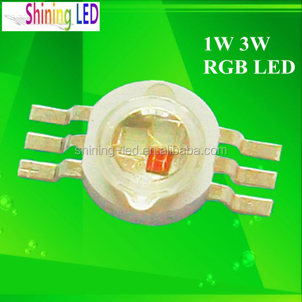 Datasheet Full Color 1W High Power LED RGB 3 Chips in One