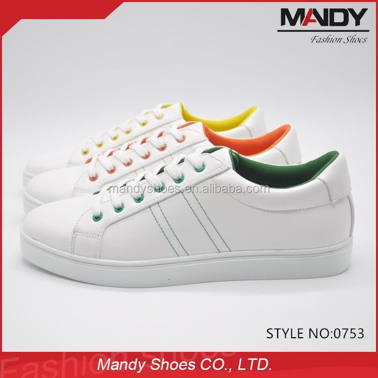 2016 most popular stylish flat casual shoes white man shoes